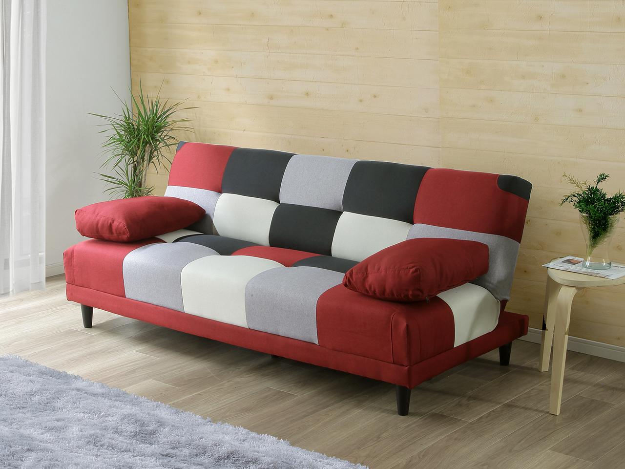 EL330_クッション付き 幅180cm ソファベッド【設置/組立て付き】
