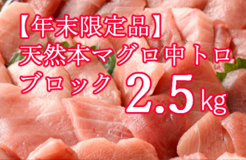 TK040【年末限定受付】高豊丸天然本まぐろ 中トロ2.5kg(小分けカット済)