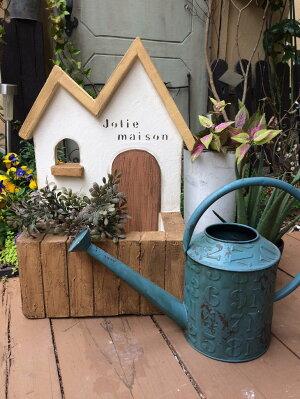 【ふるさと納税】<Moon Rabbit>2屋根のお家プランター ≪雑貨 庭 ガーデニング 屋外 オブジェ 飾り棚 ミニハウス インテリア≫