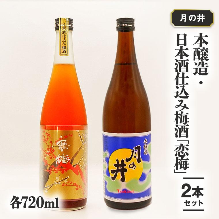 本醸造 720ml 日本酒 仕込み 梅酒 恋梅 720ml 2本 セット 月の井 大洗 地酒 国産梅 日本酒 茨城