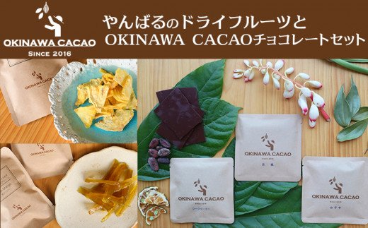 【OKINAWA CACAO】やんばるのドライフルーツとOKINAWA CACAOチョコレートのセット