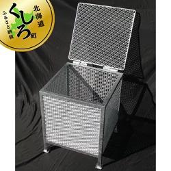 121-1257-01 金属加工のプロがつくる「屋外用のゴミ箱」(縦50cm×横50cm×高さ60cm)