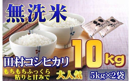 TB2-46【無洗米】【令和2年産】田村市産コシヒカリ10㎏