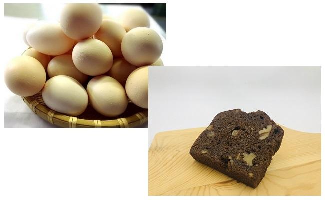 A4602ひまわりたまご紅白10個・パウンドケーキ(ショコラ)1本セット