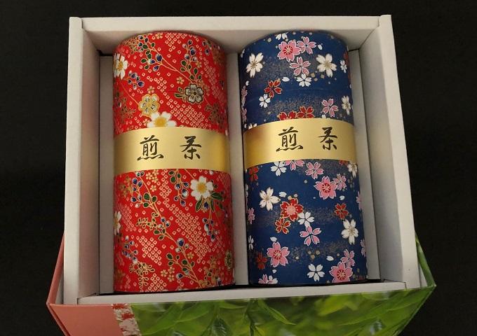 和紙缶 狭山茶(初づみ)200g ×2缶箱入