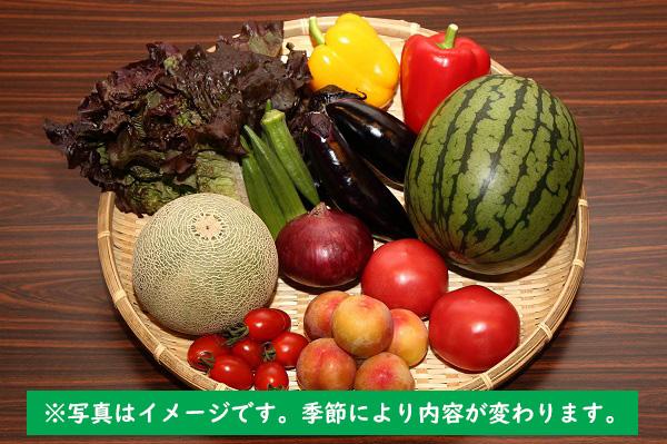 産直施設あっでば直送!季節の野菜とフルーツセット