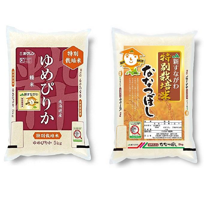 JA新すながわ産 特栽米ゆめぴりか、特栽米ななつぼし定期便(5kg×6ヶ月)