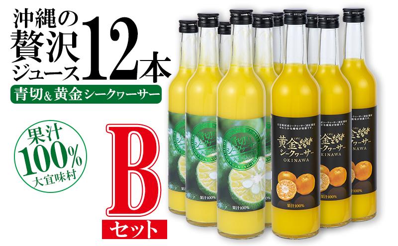 沖縄の贅沢ジュース 12本 Bセット(青切シークヮサー・黄金シークヮサー 各6本)KS1010