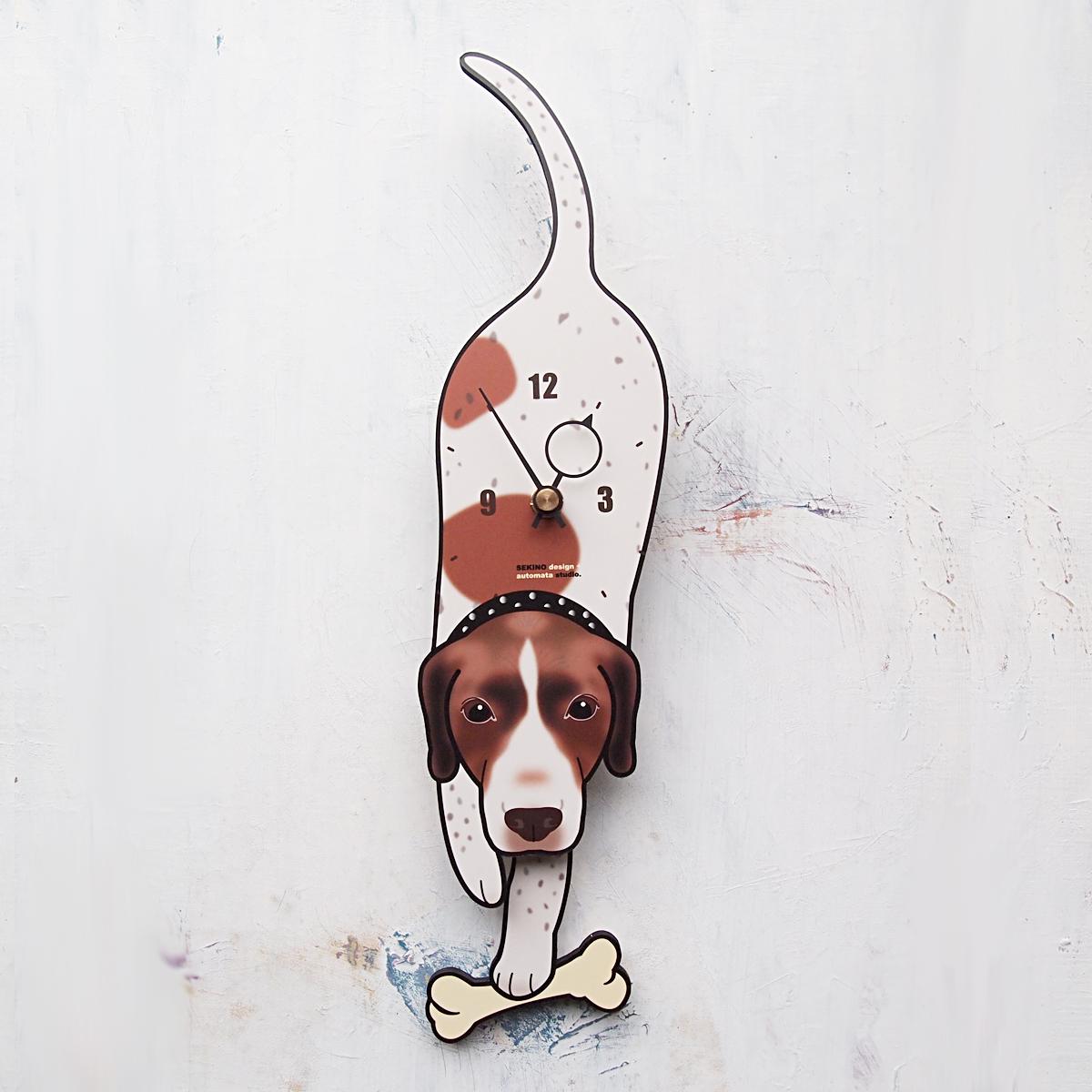 <D-48 イングリッシュポインター-犬の振り子時計>