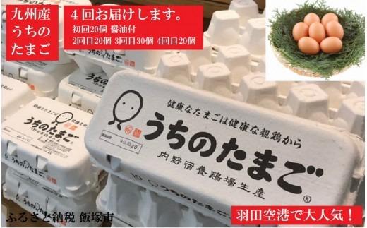 【C-054】うちのたまご醤油セット(4回お届け)