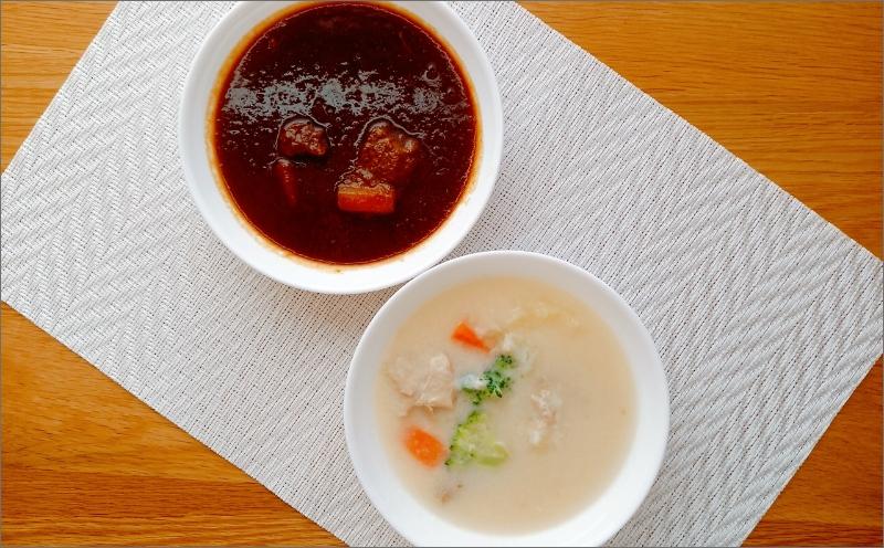 【A-572】温めるだけで本格的な「ビーフ&クリームシチュー」各4食