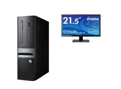 マウスコンピューター スリム型デスクトップ「Lm-iHS410EN-IIYAMA」(ディスプレイ付属モデル)