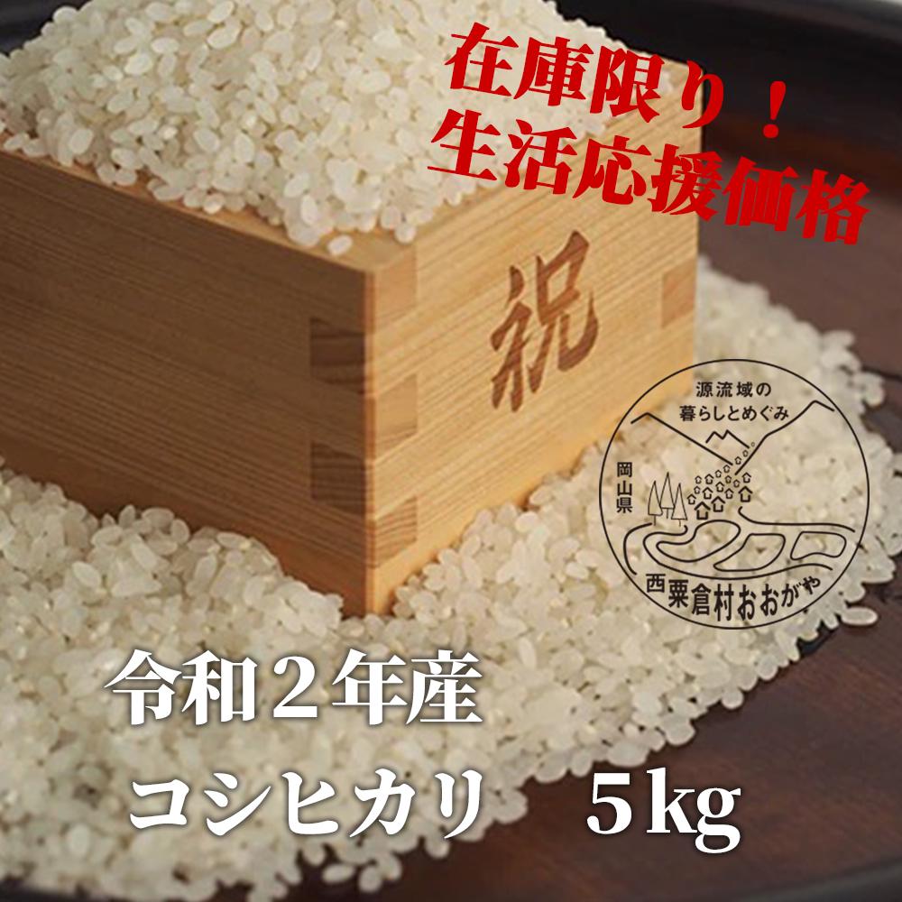 <令和2年産>KG6 おおがや米 コシヒカリ 白米5kg
