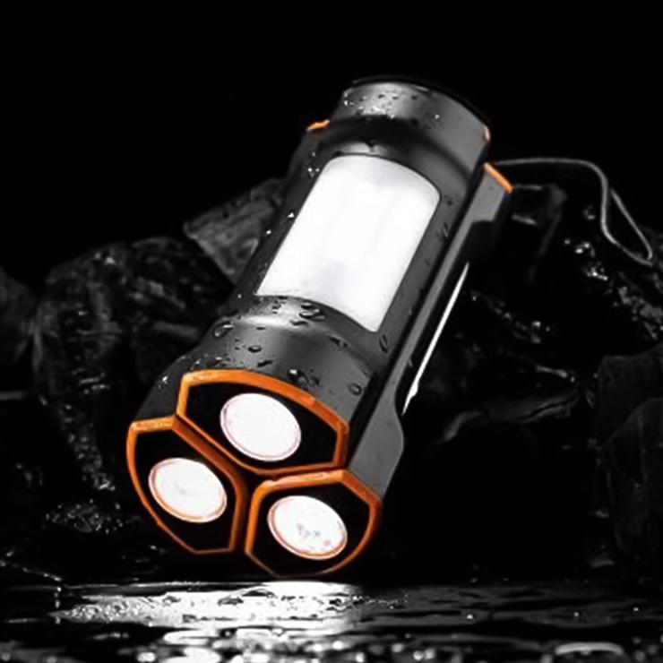 9-0100 LED懐中電灯型モバイルバッテリー 2500mAh ×3本セット OWL-LPB2501LA-BK