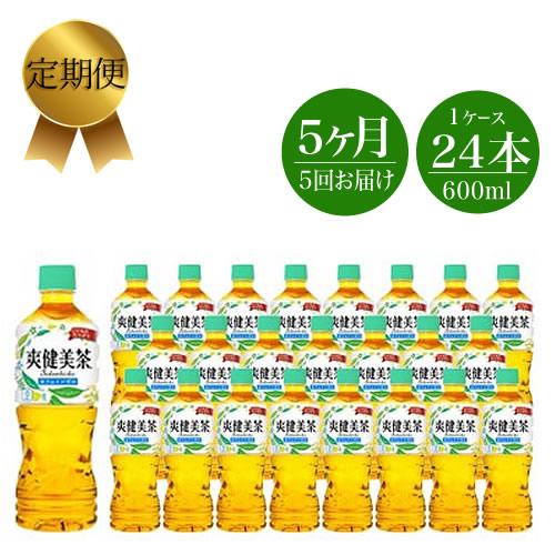 11-0053 定期便 5カ月 爽健美茶600ml×24本セット