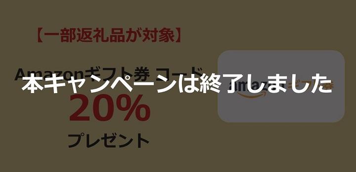 【一部返礼品が対象】Amazonギフト券 コード最大20%プレゼント