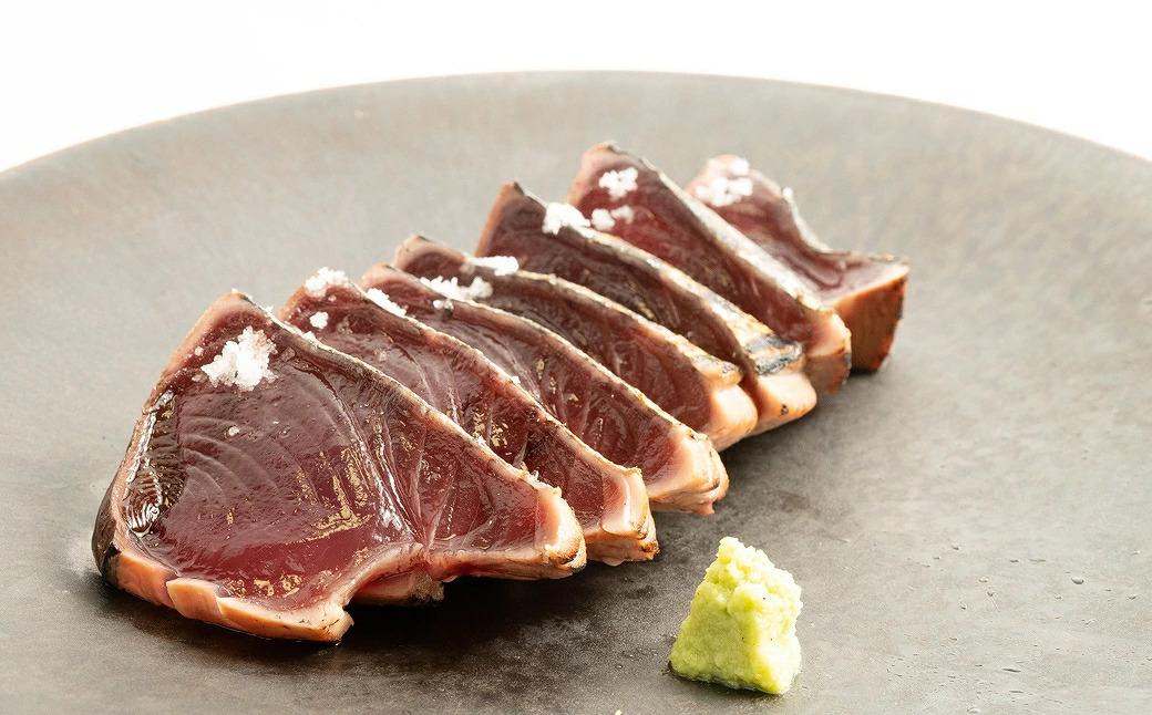 AZ6011_【プレミア和歌山】黄金藁焼き一本釣り戻り鰹タタキ1kgと藻塩(5パック)のセット