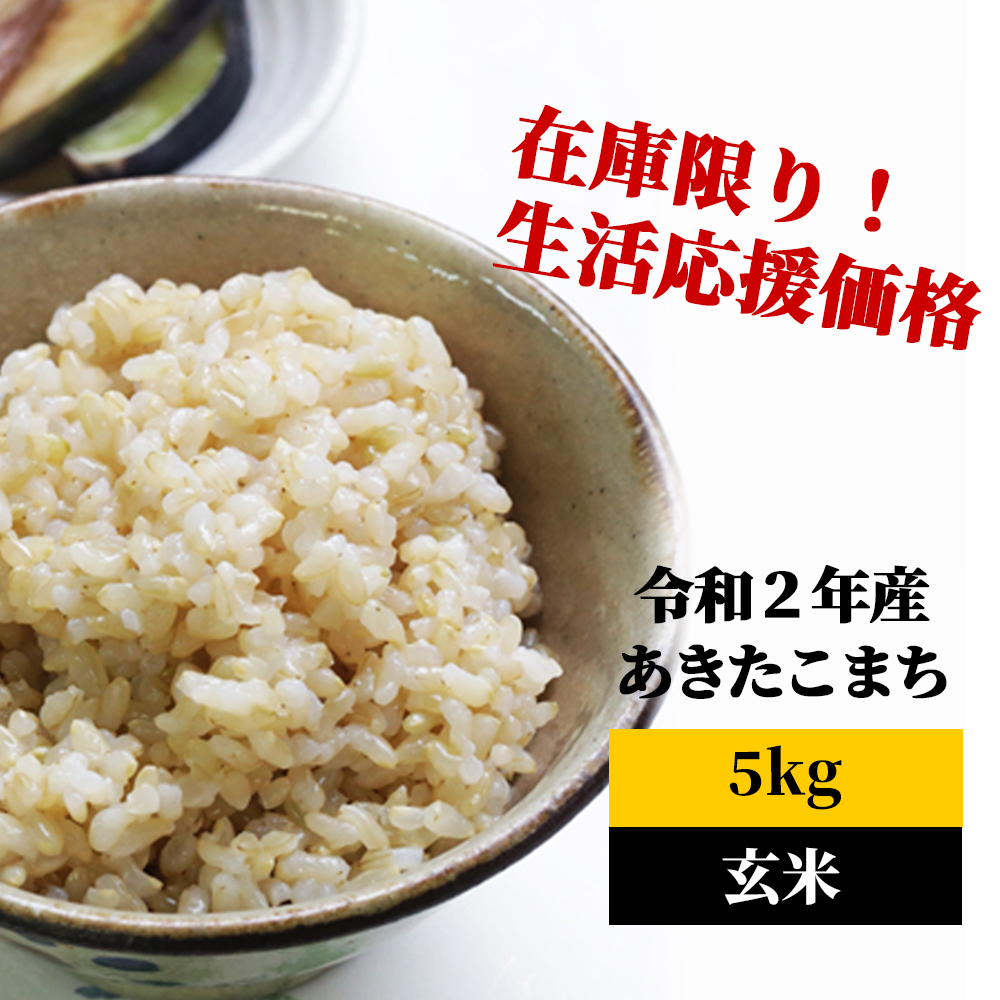 <令和2年産>K9 あわくら源流米 あきたこまち 玄米5kg