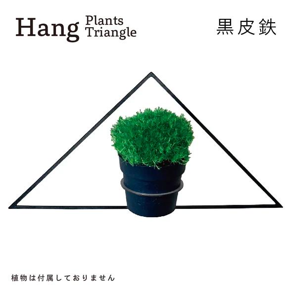 GRAVIRoN Hang Plants シリーズ Triangle 黒皮鉄(プランツハンガー)