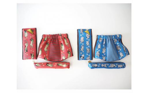 No.162 畳へり小物3点セット / 伝統 織物 ペンケース ミニポーチ メガネケース 千葉県