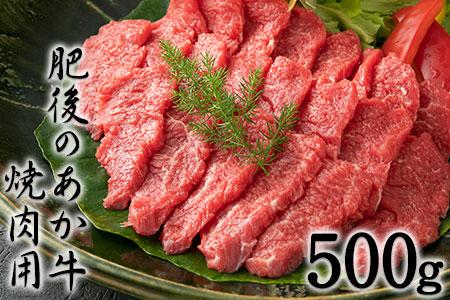 肥後のあか牛 焼き肉用500g 御船屋 熊本県御船町《30日以内に順次出荷(土日祝除く)》
