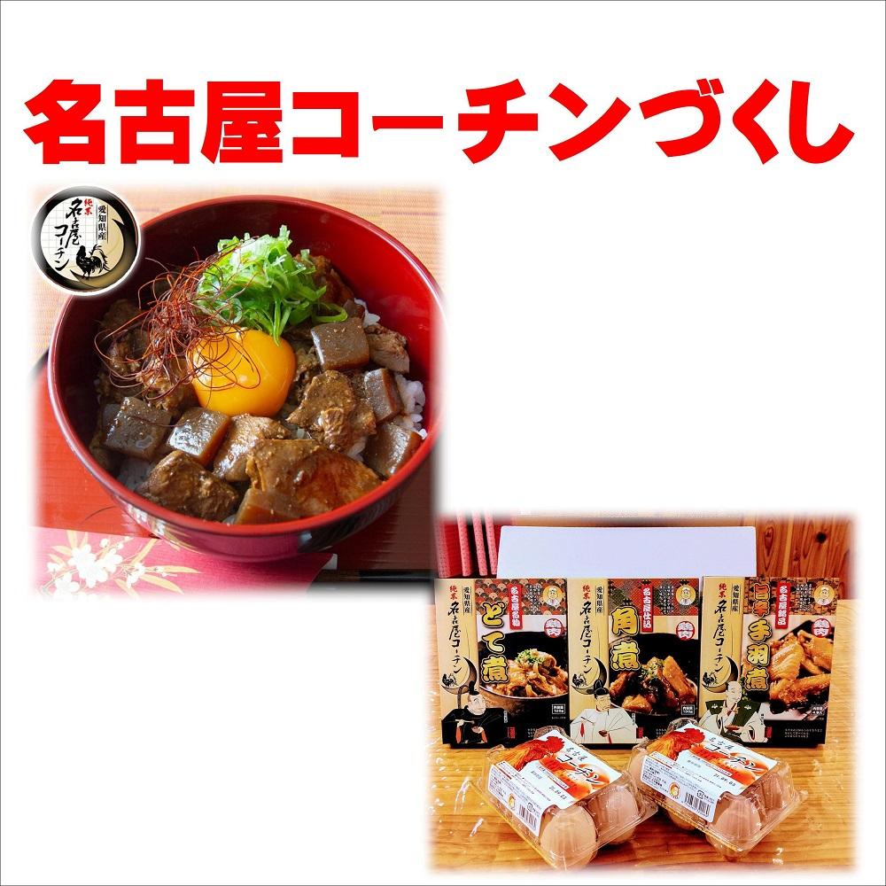 名古屋コーチンづくし 卵6個入り×2 名古屋コーチン肉(どて煮、手羽煮、角煮)各1箱
