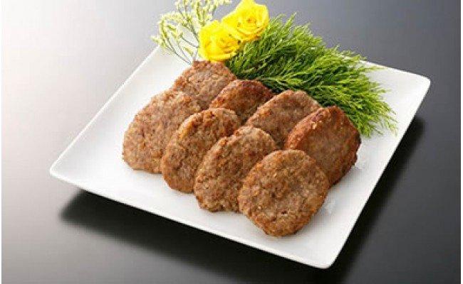 【大府市特産】A5黒毛和牛『下村牛』 黒毛和牛肉100%手作りハンバーグ8枚入
