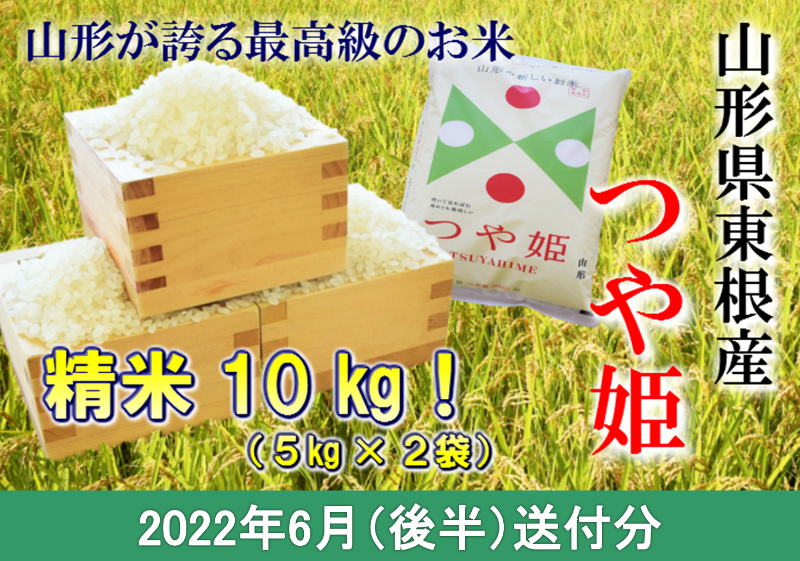 特別栽培米つや姫10kg(2022年6月後半送付)深瀬商店提供 11年連続特A 2021年産 令和3年産 山形県産 精米 白米 5kg×2袋 K-1666