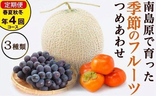 春夏秋冬 旬のフルーツセット定期便 年4回コース 果物の食べ比べセット 【3品目おまかせ】