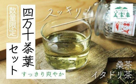 21-814.【数量限定】すっきり爽やか四万十茶葉セット(イタドリ茶・桑茶)