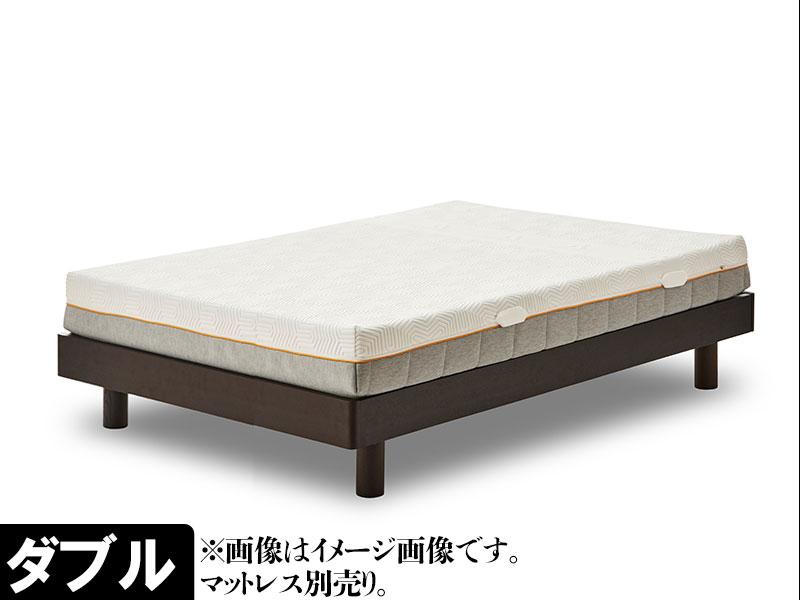 EO437_【開梱設置 完成品】ビスケ ダブル ベッド ヘッドレス すのこ ブラウン ベッドフレーム シンプル モダン 家具