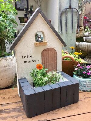 【ふるさと納税】<Moon Rabbit>三角屋根のお家プランター ≪雑貨 庭 ガーデニング 屋外 オブジェ 飾り棚 ミニハウス インテリア≫