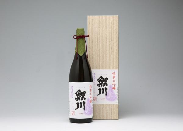 純米大吟醸「鯉川」(1800ml×1本 亀ノ尾100%使用)