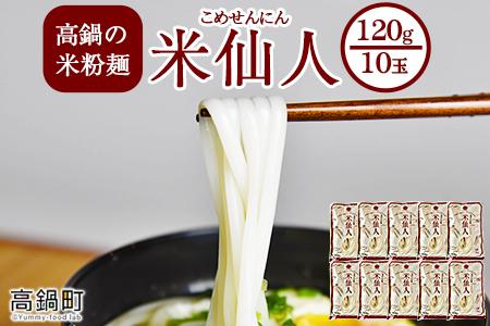 <高鍋の米粉麺「米仙人」 120g×10玉>翌月末迄に順次出荷します【c893_tr】