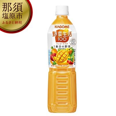 154-1017-03 カゴメ 野菜生活100(マンゴーサラダ)720ml PET×15本
