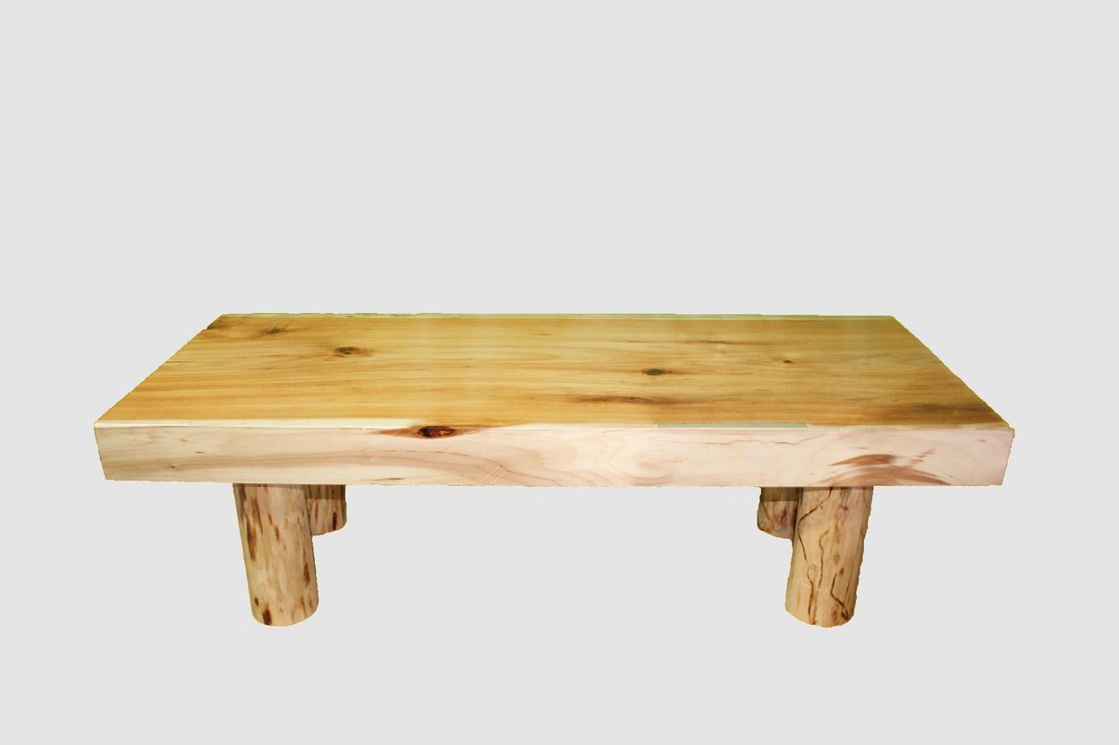 【58】座卓(テーブル)バッコヤナギ・一枚天板【厚さ約8.0cm】