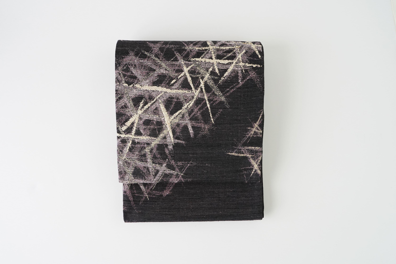 丹後の藤布 袋帯 「藤のかがやき」(紫)全通