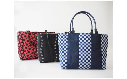 No.163 畳へりバッグインバッグ / 伝統 織物 ミニバッグ カバン 千葉県
