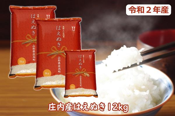 令和2年産米 はえぬき12kg