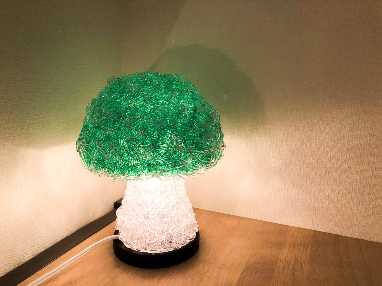 BR011_【PASTAライト】キノコ型 フロアランプ【グリーン】