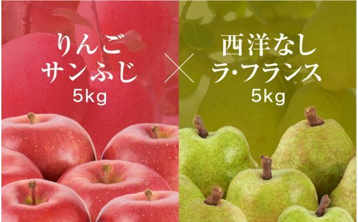 ラ・フランス&りんごコース(2021年11月スタート)【定期便】 P-1533