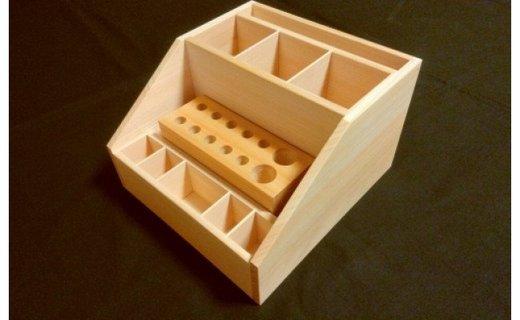 """小物収納BOX """"お役に立ちます""""≪木製 桧 ヒノキ ひのき インテリア アクセサリー 収納 整理 小物≫"""