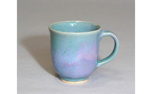 No.025 紫陽花釉マグカップ / 焼き物 陶器 工芸 コップ 群馬県