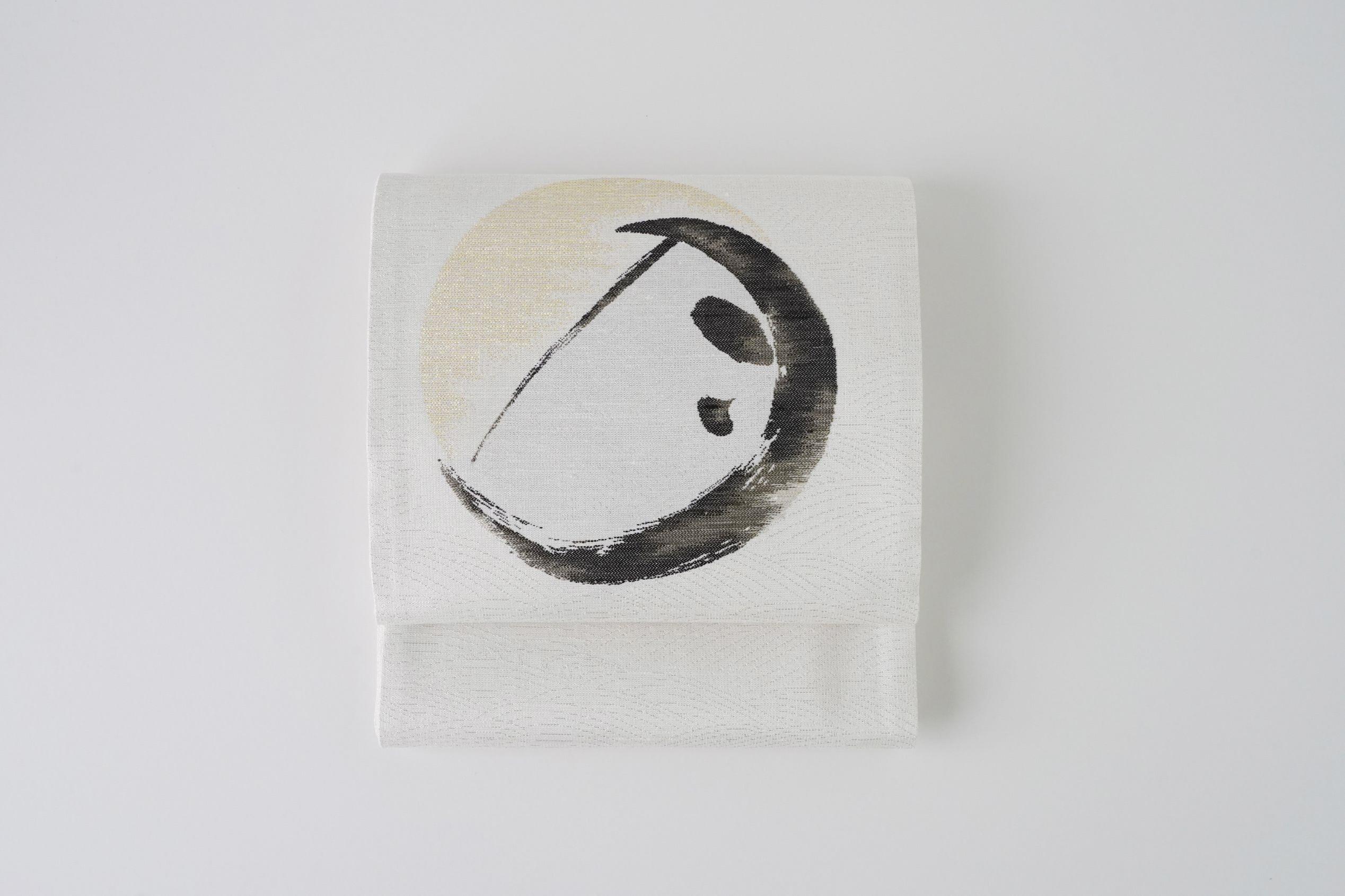 丹後帯 京袋帯「日・雪月花(白)」