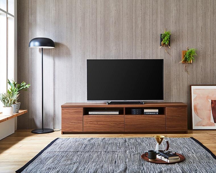 EL252_シンプルなデザイン 幅180 テレビボード【設置/組立て付き】ブラウン[di03068-02]