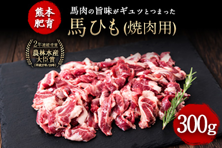 馬ひも焼肉用300g(100g×3袋) 肉 馬ひも 馬肉 熊本県玉東町《30日以内に順次出荷(土日祝を除く)》