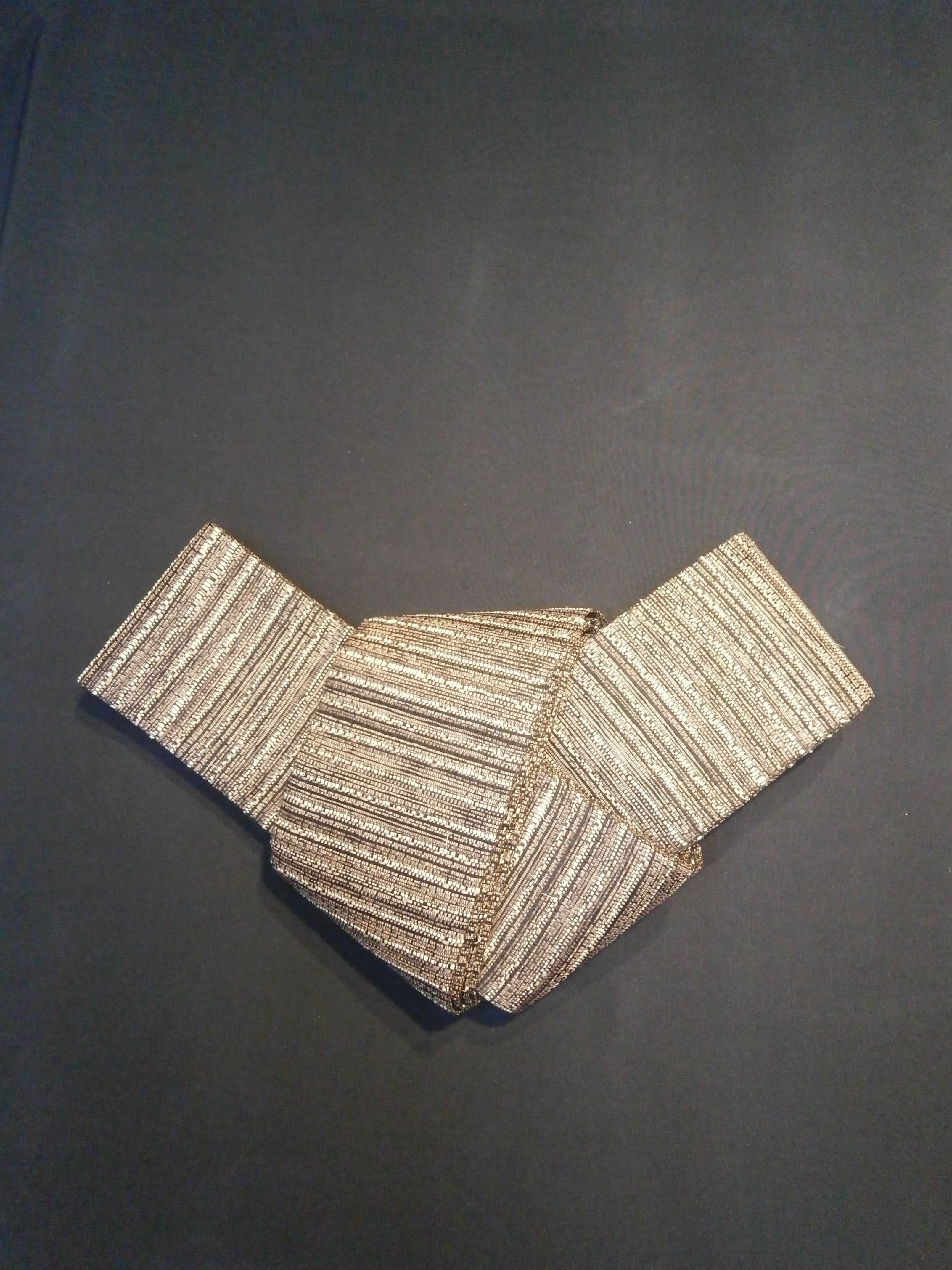 丹後の藤布 角帯「藤に和紙(小豆)」