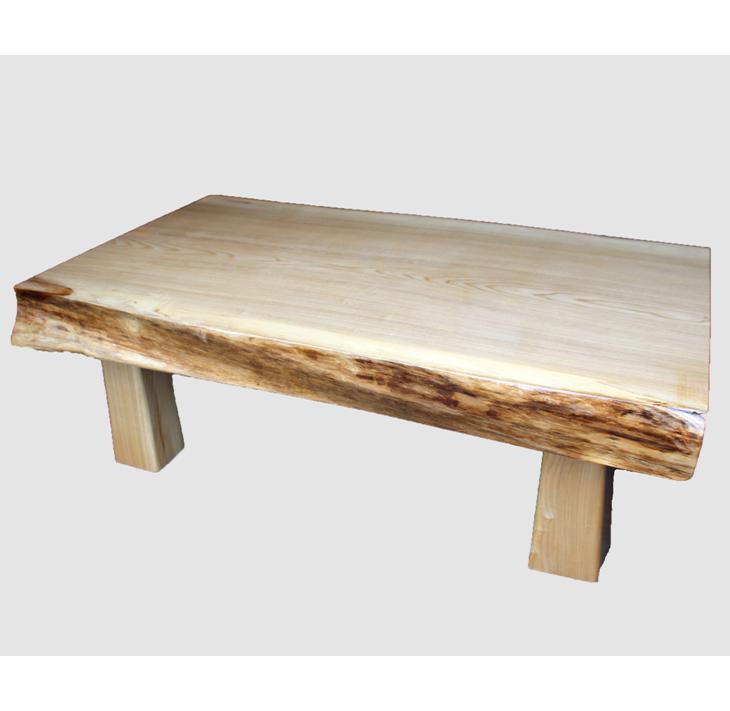 [06]座卓(テーブル)セン・一枚天板【厚さ約9.5cm】