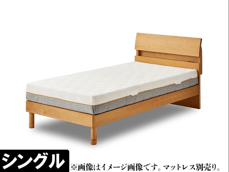 EO382_【開梱設置 完成品】デニール3 シングル ベッド レッグタイプ アルダー ウッドスプリング コンセント付き ベッドフレーム シンプル モダン  家具