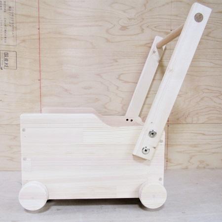 020C077 手作り木製 ドールワゴン・手押し車Ⅳ型